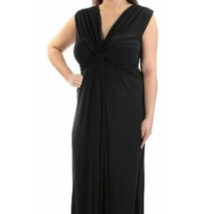 Love Squared stretchy maxi dress knot front